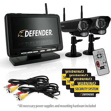 Defender® Digital Wireless DVR Security System w/ 7