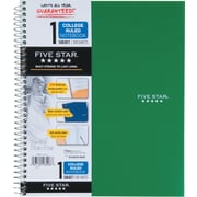 "Mead Five Star 1-Subject College-Ruled Wirebound Notebook, 8-1/2"" x 11,"" Green (72055)"