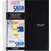 "Mead Five Star 5-Subject College-Ruled Wirebound Notebook,, 8-1/2"" x 11,"" Black (72081)"