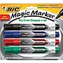Bic Magic Marker Dry-Erase Markers, Tank Style, Assorted