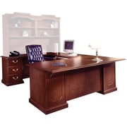 DMI Andover Right Executive U-Desk, Mahogany