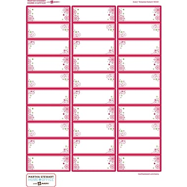 Martha Stewart Home Office™ with Avery™ Easy Peel® Clear Address Labels 19025, 1in. x 2-5/8in., Pack of 90