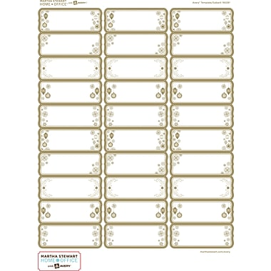 Martha Stewart Home Office™ with Avery™ White Address Labels 19028, 1in. x 2-5/8in., Pack of 90