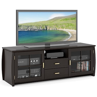 Sonax® Washington 59in. Wood/Veneer TV/Component Bench, Mocha Black