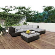 Sonax Park Terrace Collection, Sectional Patio Set, Textured Black
