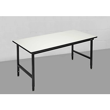 Calstone Modular Heavy Duty Packaging Table, Black/Silver