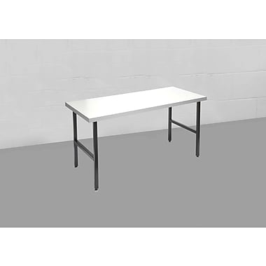 Calstone Modular Heavy Duty Metal Table, Black/Silver