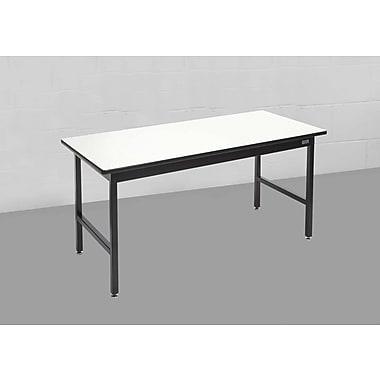 Calstone – Table simple robuste, noir/argenté