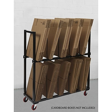 Calstone Multi-Level Carton Stand with Casters, Black