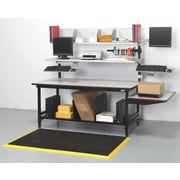 Calstone Duo-Manifest Workstation, Black/Silver