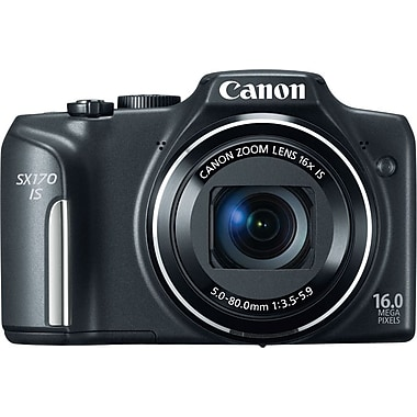 Canon Powershot SX170 IS Digital Camera, Black