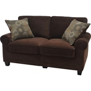 "Serta RTA Trinidad Collection, 61"" Fabric Loveseat Sofa, Chocolate"
