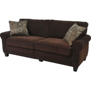 Serta Trinidad Collection Sofa, Chocolate Fabric