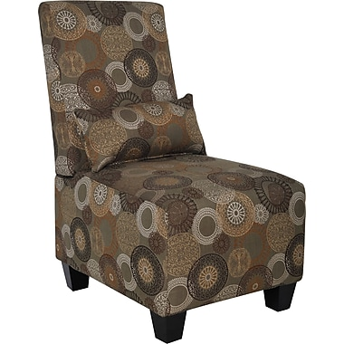 Serta Trinidad/Copenhagen Collection Slipper Accent Chair, Sage Print Fabric