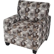 Serta San Paolo/Santa Cruz Collection Track Arm Accent Chair, Martini-Coconut Print Fabric