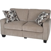 "Serta RTA San Paolo Collection, 61"" Fabric Loveseat Sofa, Platinum"