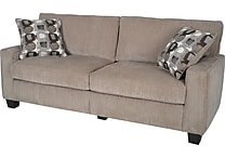 Serta RTA Santa Cruz Collection, 78' Fabric Sofa, Platinum