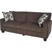 "Serta RTA San Paolo Collection, 73"" Fabric Sofa, Mink Brown"