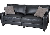 Serta RTA Santa Rosa Collection, 77' Leather Sofa, Black