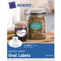 Avery® Print-to-the-Edge Glossy White  Oval  Labels 22920 , 1-1/2in. x 2-1/2in., Pack of 54