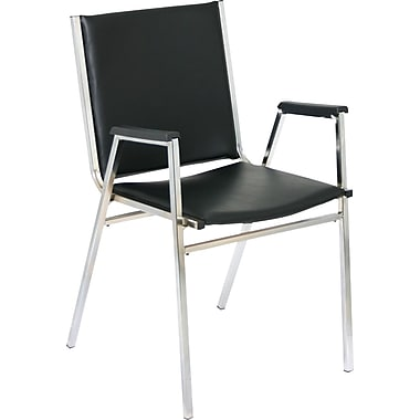 Global Stack Chair with Arms, Black