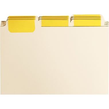 Oxford® Insertable Card Guides, 1/3 Cut Tabs, 6 x 4, 12/Pack