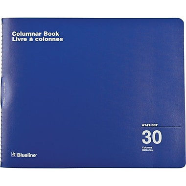 Blueline® Columnar Book, 30 Columns, 80 Pages, 12