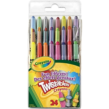 Crayola® Fun Effects Twistable Crayons, 24/Pack