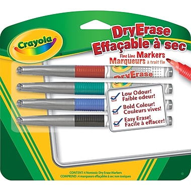 Crayola® Dry Erase Markers, 4/Pack