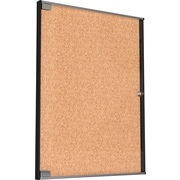 "Best Rite 25 1/8""H x 19 3/4""W Ultra Enclosed Bulletin Board Cabinet with Aluminum Frame 94USA-01"