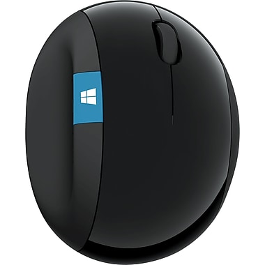 Microsoft Sculpt Ergonomic Wireless Mouse, USB Wireless Mouse, Black (L6V-00001)