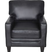 Serta RTA Santa Rosa Collection Leather Accent Chair, Black