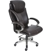 Serta AIR™ Health & Wellness Big & Tall Executive Office Chair, Eco-friendly Bonded Leather, Roasted Chestnut