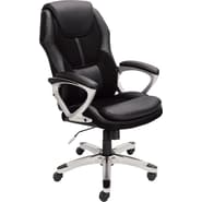 Serta Executive Office Chair, Puresoft® Faux Leather with Mesh, Black