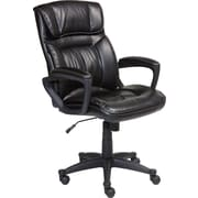 Serta Executive Office Chair, Puresoft® Faux Leather, Smooth Black