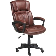 Serta Executive Office Chair, Puresoft® Faux Leather, Cognac Brown