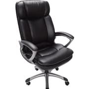 Serta Executive Big&Tall Office Chair, Puresoft® Faux Leather, Smooth Black