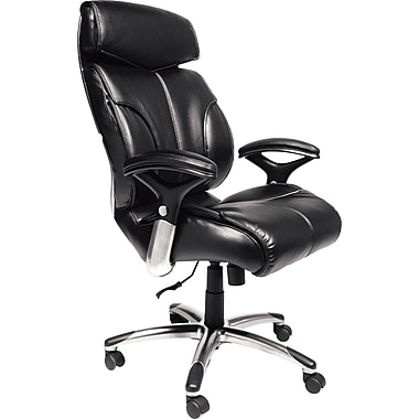Serta Executive Big&Tall Commercial Quality Office Chair, Bonded Leather, Black