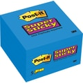 Post-it Super Sticky 3in.x 3in. Sapphire, 5 Pads/Pack