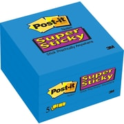 "Post-it® Super Sticky 3""x 3"" Sapphire, 5 Pads/Pack"