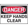Accuform Signs® 3 1/2in. x 5in. Adhesive Vinyl Safety Label in.DANGER KEEP..in., Red/Black On White, 5/Pack