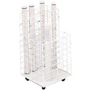 Safco® – Classeur à 4 compartiments de rangement, en fil de fer