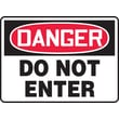 Accuform Signs® 10in. x 14in. Aluminum Safety Sign in.DANGER DO NOT ENTERin., Red/Black On White