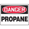 Accuform Signs® 7in. x 10in. Adhesive Vinyl Safety Sign in.DANGER PROPANEin., Red/Black On White