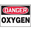 Accuform Signs® 10in. x 14in. Adhesive Vinyl Safety Sign in.DANGER OXYGENin., Red/Black On White