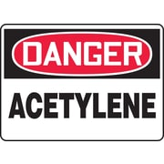 "Accuform Signs® 7"" x 10"" Adhesive Vinyl Safety Sign ""DANGER ACETYLENE"", Red/Black On White"