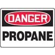 Accuform Signs® 10in. x 14in. Adhesive Vinyl Safety Sign in.DANGER PROPANEin., Red/Black On White