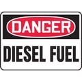 Accuform Signs® 7in. x 10in. Adhesive Vinyl Safety Sign in.DANGER DIESEL FUELin., Red/Black On White