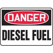Accuform Signs® 10in. x 14in. Adhesive Vinyl Safety Sign in.DANGER DIESEL FUELin., Red/Black On White
