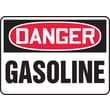 Accuform Signs® 10in. x 14in. Adhesive Vinyl Safety Sign in.DANGER GASOLINEin., Red/Black On White
